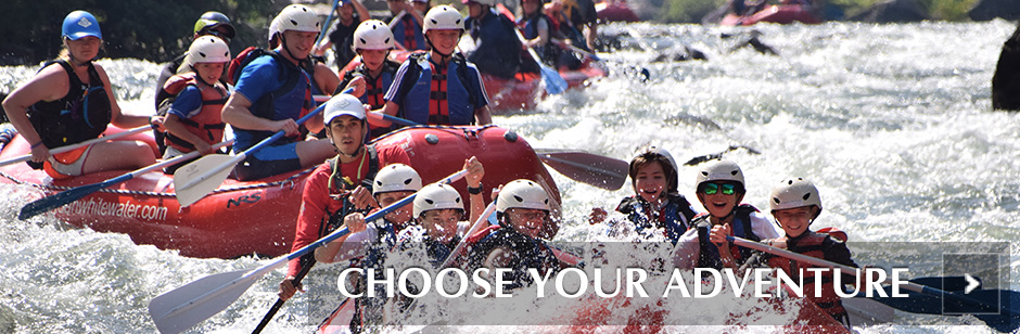 Plan your whitewater rafting trip